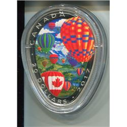 2017 CNDN 20 DOLLAR PC *FINE SILVER* (HOT AIR BALLOONS) *99.99 PURE SILVER*