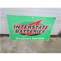 """BATTERY SIGN (INTERSTATE) *48"""" X 30""""*"""