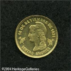 Honduras. Republic gold Peso 1888, KM56, superb brilliant UNC Republic gold Peso 1888,