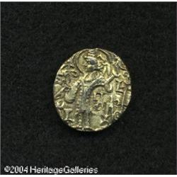 India. Kushans. Debased gold Stater of Kipanada Gadahara, 33 Kushans. Debased gold Stater of Kipanad