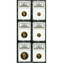 Isle of Man. Elizabeth II gold Set 1987, six coins all certified Pro Elizabeth II gold Set 1987,