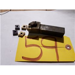 """Holder (3/4""""x3/4"""")DCLNR-124B with inserts CNMG 432-431"""