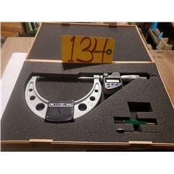"""Mitutoyo 342-364 3""""-4"""" IP65 Digimatic Point Micrometer W/Data Output"""