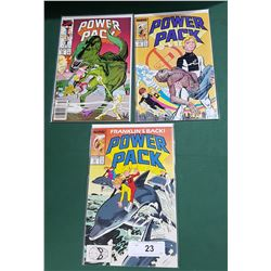 3 VINTAGE COLLECTIBLE POWER PACK $1.00 & $1.50 COMICS