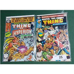 2 VINTAGE COLLECTIBLE THE THING $0.50 COMICS