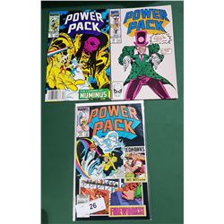 3 VINTAGE COLLECTIBLE POWER PACK $0.65 & $1.00 COMICS