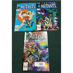 3 VINTAGE COLLECTIBLE THE NEW MUTANT $0.75 & $1.00 COMICS