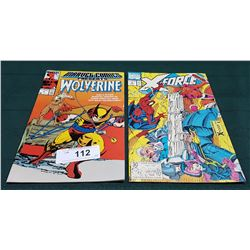 VINTAGE WOLVERINE $1.25 & X-FORCE $1 COMICS