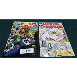 VINTAGE X-FACTOR $1.25 & MARVEL FANFARE $1.50 COMICS