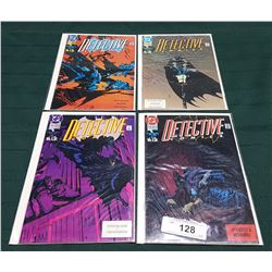 4 VINTAGE COLLECTIBLE DETECTIVE $1.00 COMICS