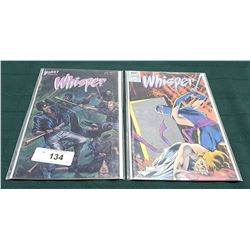 2 VINTAGE COLLECTIBLE WHISPER $1.75 & $1.95 COMICS