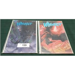 2 VINTAGE COLLECTIBLE WHISPER $1.25 & $1.75 COMICS