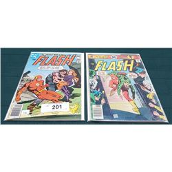2 VINTAGE COLLECTIBLE THE FLASH $0.30 & $0.40 COMICS
