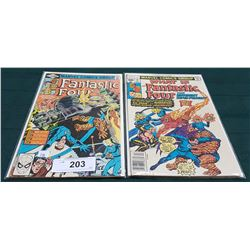 2 VINTAGE COLLECTIBLE FANTASTIC FOUR $0.40 & $0.60 COMICS