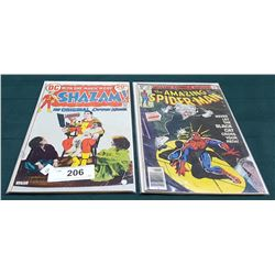 VINTAGE SHAZAM $0.20 & THE AMAZING SPIDERMAN $0.40 COMICS