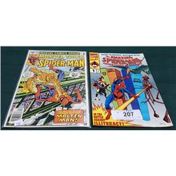 2 VINTAGE COLLECTIBLE SPIDERMAN $0.40 COMICS