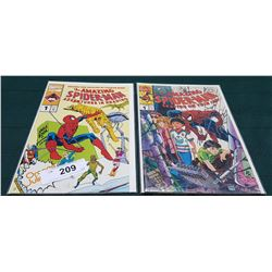 2 VINTAGE COLLECTIBLE SPIDERMAN $1.25 COMICS