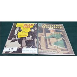 VINTAGE JOHN STEED, EMMA PEEL $0.15 & ANNIE OAKLEY AND TAGG $0.10 COMICS