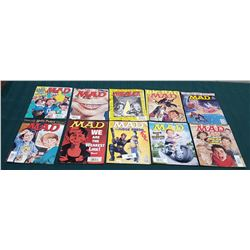 10 VINTAGE COLLECTIBLE MAD MAGAZINES