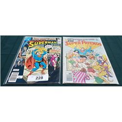 VINTAGE SUPERMAN $0.40 & THE SUPER FRIENDS $0.30 COMICS