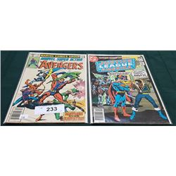 VINTAGE THE AVENGERS $0.40 & JUSTICE LEAGUE OF AMERICA $0.40 COMICS