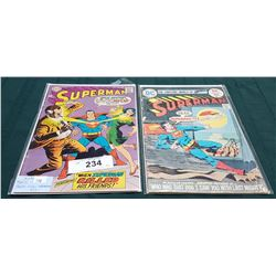 2 VINTAGE COLLECTIBLE SUPERMAN $0.12 & $0.25 COMICS