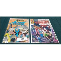 VINTAGE SUPERMAN ACTION COMICS $0.40 & THE AMAZING SPIDERMAN $1.25 COMICS