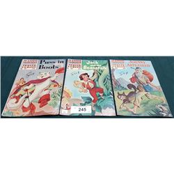 3 VINTAGE COLLECTIBLE CLASSICS ILLUSTRATED JUNIOR $0.25 COMICS