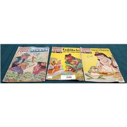 3 VINTAGE COLLECTIBLE CLASSICS ILLUSTRATED JUNIOR $0.15 & $0.25 COMICS