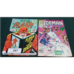 VINTAGE THE FLASH $0.20 & ICEMAN $1.00 COMICS