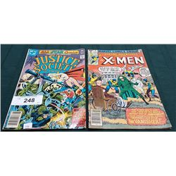 VINTAGE JUSTICE SOCIETY $0.35 & X-MEN $0.40 COMICS