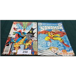 VINTAGE LEGION OF SUPER-HEROES WORLD'S FINEST 1982 & THE SANDMAN $0.20 COMICS