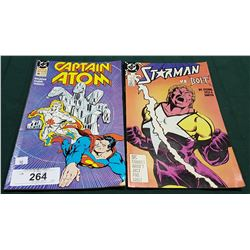 VINTAGE CAPTAIN ATOM $1.00 & STARMAN $1.00 COMICS