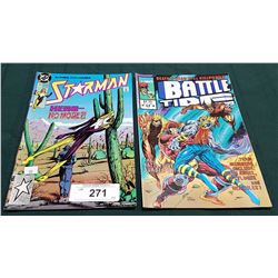 VINTAGE STARMAN $1.00 & BATTLE TIDE $1.75 COMICS