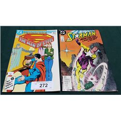 VINTAGE THE MAN OF STEEL $0.75 & STARMAN $1.00 COMICS