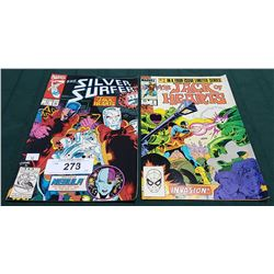 VINTAGE THE SILVER SURFER 1.25 & THE JACK OF HEARTS $0.60 COMICS
