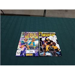 VINTAGE THE JACK OF HEARTS $0.60 & WOLVERINE $1.25 COMICS