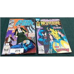 VINTAGE ALPHA FLIGHT $0.60 & WOLVERINE AND VENOM $1.50 COMICS