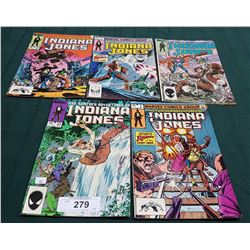 5 VINTAGE COLLECTIBLE INDIAN JONES $60 & $0.65 COMICS