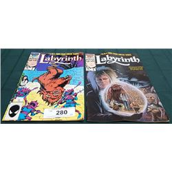 2 VINTAGE COLLECTIBLE LABYRINTH $0.75 COMICS