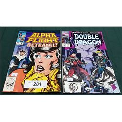 VINTAGE ALPHA FLIGHT $0.60 & DOUBLE DRAGON $1.00 COMICS