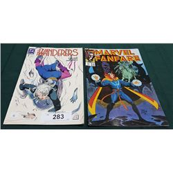 VINTAGE THE WANDERERS $1.25 & MARVEL FAN FARE $1.95 COMICS