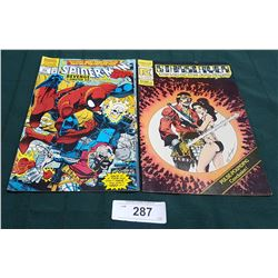 VINTAGE SPIDERMAN $1.75 & STARSLAYER $1.00 COMICS