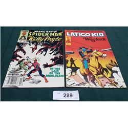 VINTAGE SPIDERMAN AND KITTY PRYDE $0.75 & LATIGO KID $1.95 COMICS