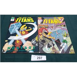 2 VINTAGE COLLECTIBLE THE NEW TEEN TITANS $1.75 COMICS