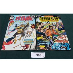 VINTAGE THE NEW TEEN TITANS $1.75 & STARSLAYER $1 COMICS