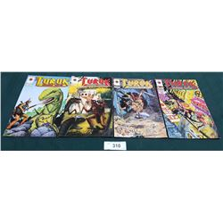 4 VINTAGE COLLECTIBLE TUROK $2.50 & $3.95 COMICS