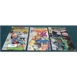 3 VINTAGE COLLECTIBLE THE AMAZING SPIDERMAN $0.35 COMICS