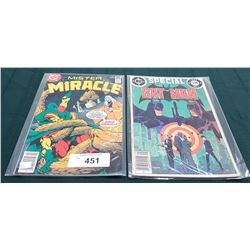 VINTAGE BATMAN $1.50 & MISTER MIRACLE $0.35 COMICS
