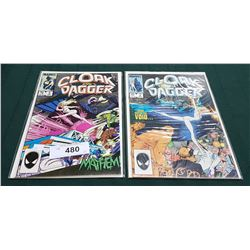 2 VINTAGE CLOAK AND DAGGER $0.75 COMICS